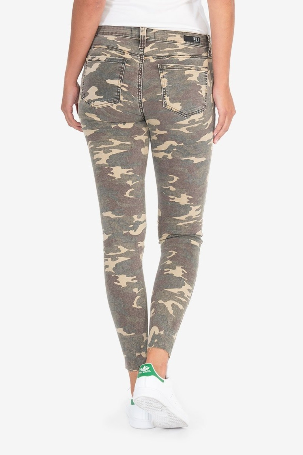 KUT Connie Ankle Skinny- Camo - Side Cropped Image