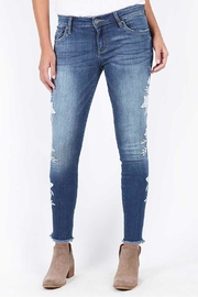 Kut from the Kloth Connie Embroidered Skinny - Front cropped
