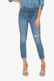 KUT Connie High Rise Fab Ab Fray Hem Denim Pants - Front cropped