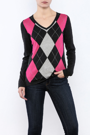 Conrad C Charcoal Argyle Sweater - Product Mini Image