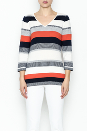 Conrad C Navy Stripes Sweater - Front full body