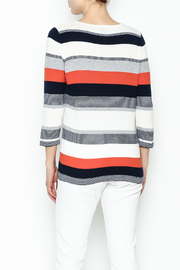 Conrad C Navy Stripes Sweater - Back cropped