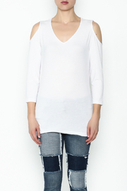 Conrad C White Cold Shoulder Top - Front full body