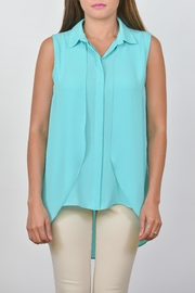 Conrad C Collar Georgette Tank - Front cropped