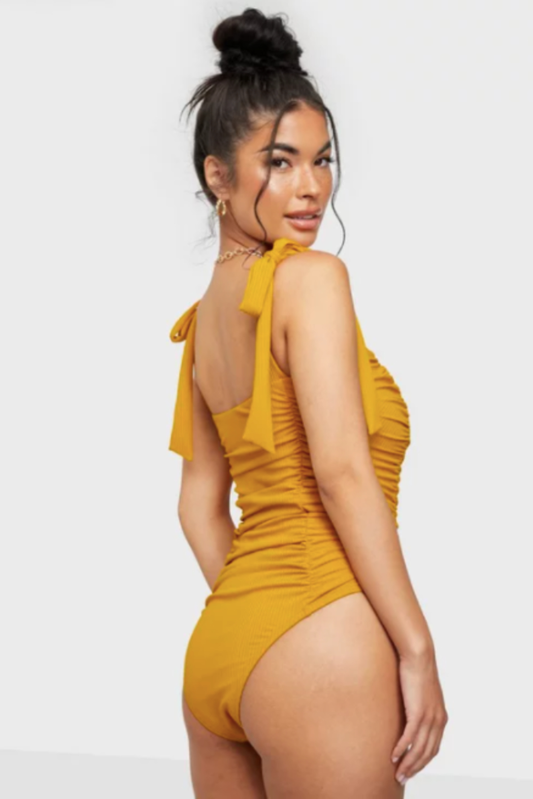 MinkPink Constance Ruched One Piece Swimsuit - Front Full Image