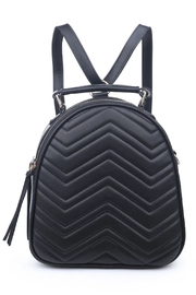 Urban Expressions Constance V Stitch Double Zip Backpack - Product Mini Image