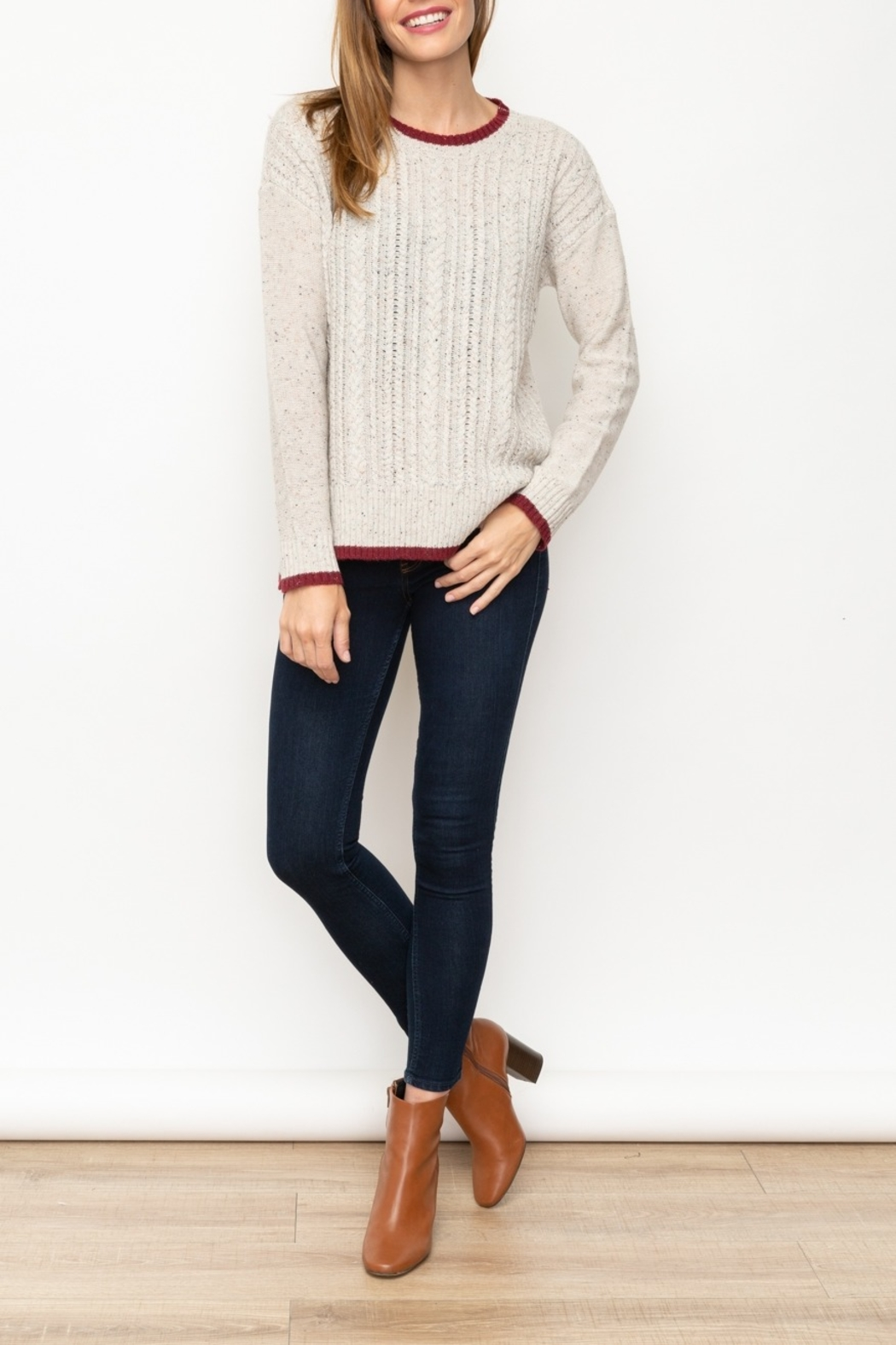 Mystree Cont End Sweater - Side Cropped Image