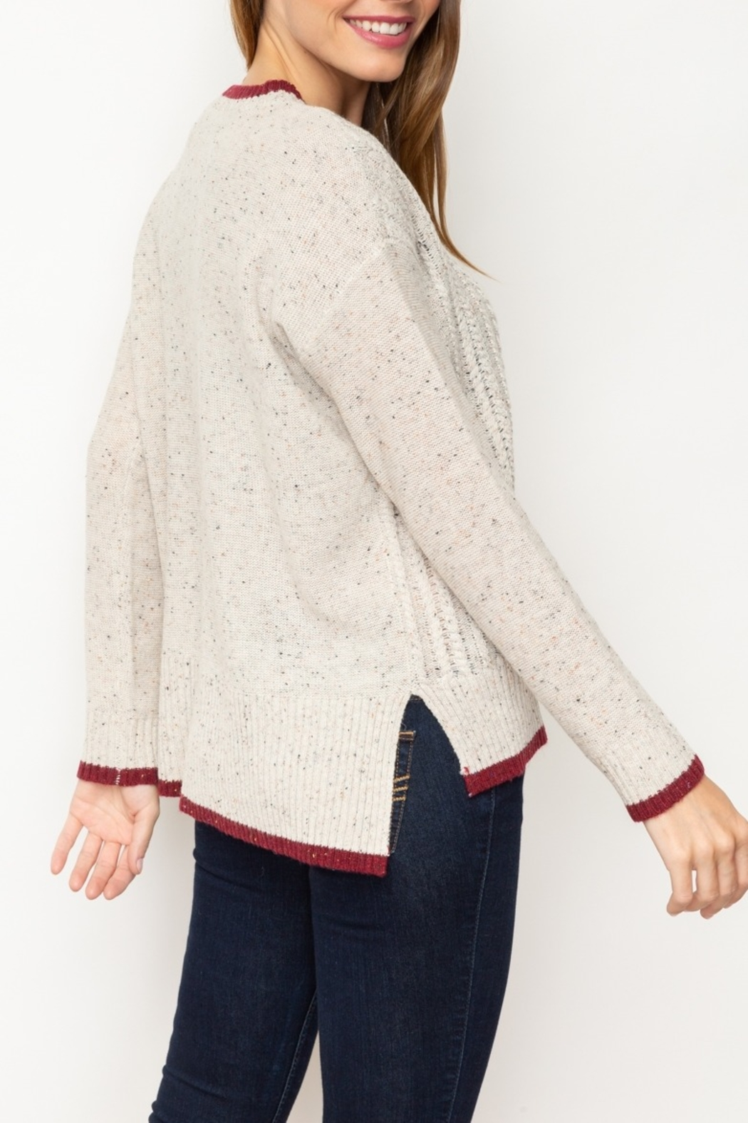 Mystree Cont End Sweater - Front Full Image