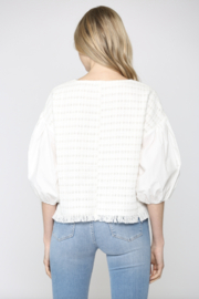 FATE by LFD Contrast Balloon Sleeve Tweed Blouse - Side cropped
