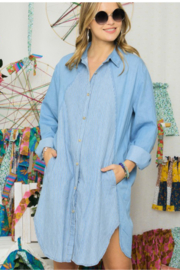 0 styleholic Contrast Chambray Pocketed Button up - Product Mini Image
