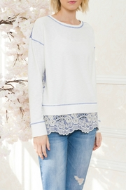 Mystree Contrast Eyelet Terry Top - Product Mini Image