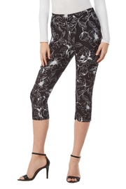 Nygard Contrast Floral Capri - Product Mini Image