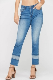 Wishlist Contrast-Hem Mom Jean - Product Mini Image
