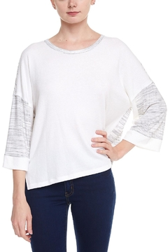 Shoptiques Product: Contrast Jersey Top
