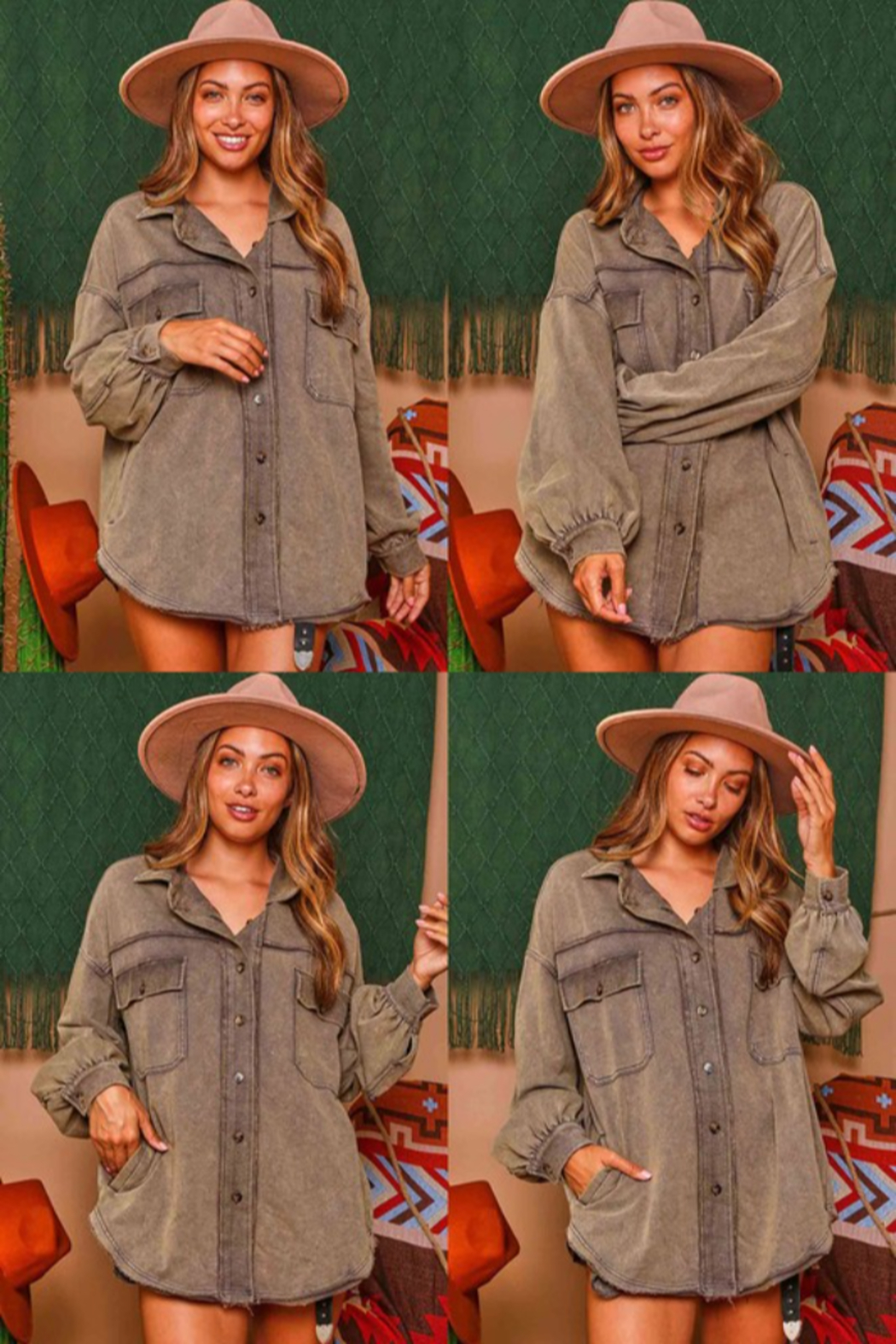 Fantastic Fawn Contrast Knit Shirt / Jacket - Front Full Image