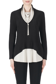 Joseph Ribkoff Contrast Layered Cowl Neck Tunic - Front cropped