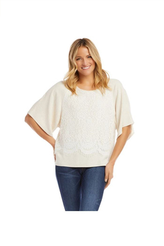 Karen Kane Contrast Modern Sleeve Top, Oatmeal - Alternate List Image