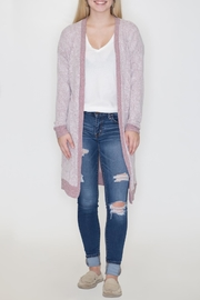 Cherish Contrast Open Cardigan - Front cropped