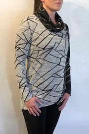 Crystal Contrast Print Sweater - Front full body