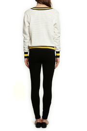 Dex Contrast Rib V Neck Sweater - Front full body