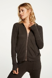 Chaser Contrast Rose Gold Zipper Hoodie - Product Mini Image