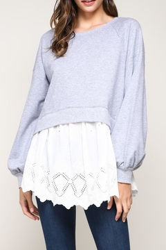 Shoptiques Product: Contrast Shirt Sweater