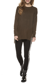 Dex Contrast Side Stripe Legging with Zip Front - Product Mini Image