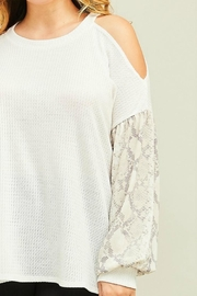 Entro Contrast-Sleeve Halter-Neck - Product Mini Image