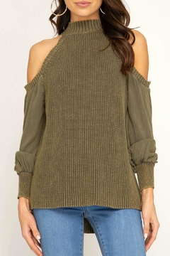 Shoptiques Product: Contrast Sleeve Sweater