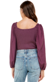 On Twelfth Contrast Sleeve Sweater - Front full body
