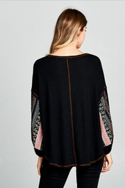 hummingbird Contrast Sleeved Top - Side cropped
