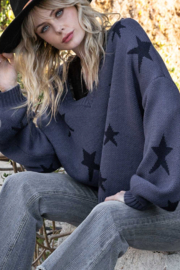 POL  Contrast Star Sweater - Product Mini Image
