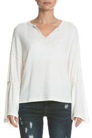 Elan Contrast-Stitch Bell Sleeve - Product Mini Image