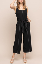 All In Favor Contrast Stitch Jumpsuit - Product Mini Image