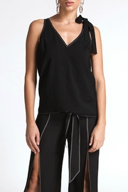 CISTAR Contrast Stitching Top - Product Mini Image