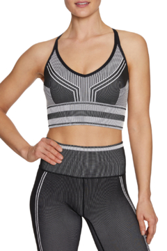 Betsey Johnson Contrast Stripe Seamless Sports Bra - Product List Image