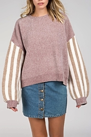 POL Contrast Striped Sweater - Product Mini Image