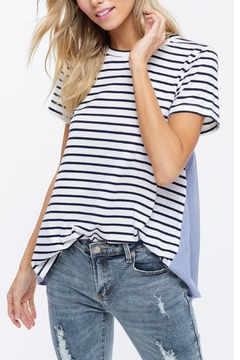 Shoptiques Product: Contrast Striped Tee