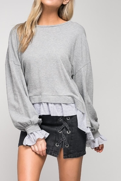 Shoptiques Product: contrast sweater shirt