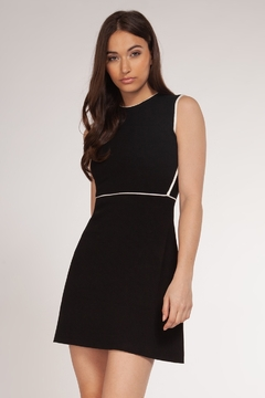 Dex Contrast Trim Fit & Flare Dress - Product List Image