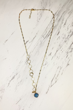 Midori Linea Contrasting Chain Long Drop Necklace - Alternate List Image