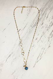Midori Linea Contrasting Chain Long Drop Necklace - Front cropped