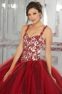 Morilee Contrasting Embroidery with Beading on a Layered Tulle Ball Gown - Alternate List Image