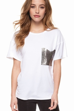 Shoptiques Product: Contrasting Pocket Tee