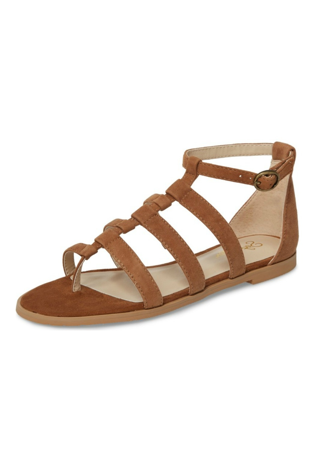 ff0a40e7087 Seychelles Shoes Contribution Tan Suede Sandal - Front Cropped Image