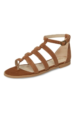 Seychelles Shoes Contribution Tan Suede Sandal - Product List Image