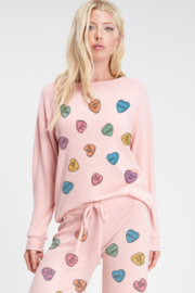 Phil Love  Conversation Hearts Lounge Top - Product Mini Image