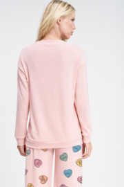 Phil Love  Conversation Hearts Lounge Top - Side cropped