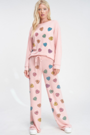 Phil Love  Conversation Hearts Lounge Top - Front full body