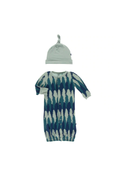 Kickee Pants Converter Gown & Hat Set - Navy Forestry - Product List Image